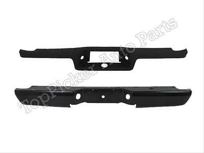 1993-2011 FORD RANGER STYLESIDE REAR STEP BUMPER FACE BAR BLACK TOP PAD 2PC NEW