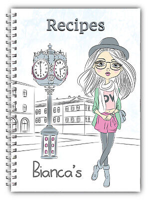 A5 Recipe Planner/ Personal Recipe Book/your Own Recipes/weight Loss