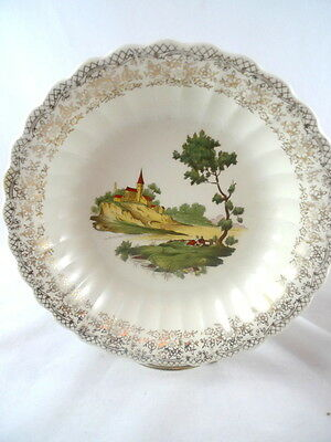 (3) Vintage American Limoges French Chateau SOUP BOWLS 22K Made In USA