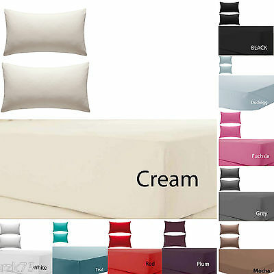 """Olivia Rocco Percale Extra Deep Fitted Sheet, Non iron, 180 TC, 12""""(30cm) Box"""