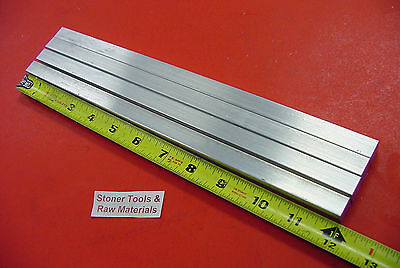 "4 Pieces 1/2"" X 1/2"" ALUMINUM SQUARE FLAT BAR 12"" long 6061 T6511 New Mill Stock"