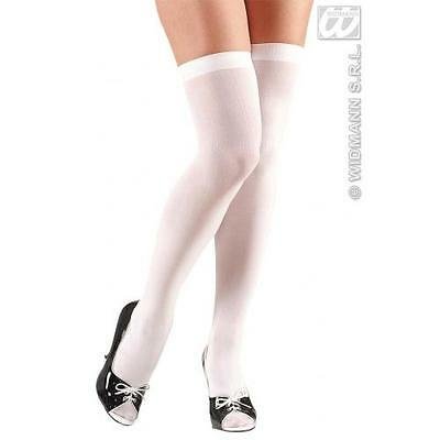 7f27a51bc Ladies White Over Knee Socks St Trinians School Girl Fancy Dress Accessory