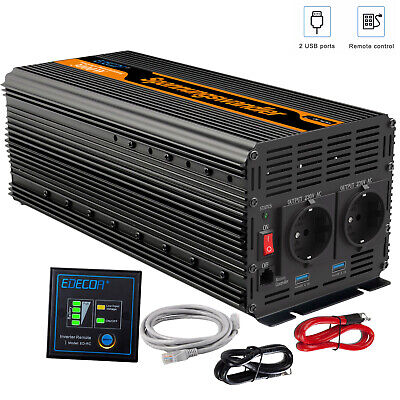 Convertisseur DC 24V à AC 220V Onduleur 3000 Watt 6000W Power Inverter Softstart