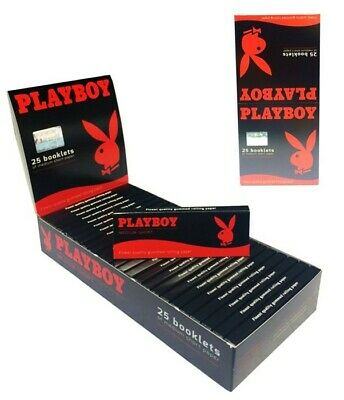 25 x 50 Blatt PLAYBOY Rot Red Medium Paper Papers Blättchen Zigarettenpapier