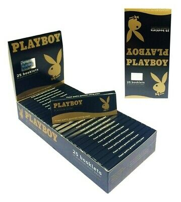 25 x 50 Blatt PLAYBOY Platinum Short Paper Papers Blättchen Zigarettenpapier