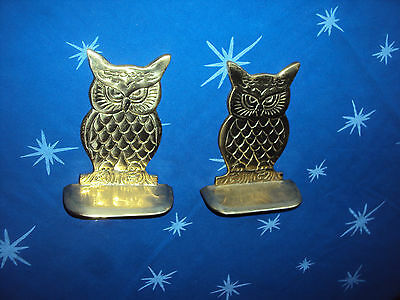 OWL - Brass Bookends, excellent condition, Very sweet