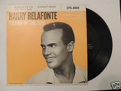 Harry Belafonte Island in the Sun 45 rpm record with cover 1957 RCA Victor