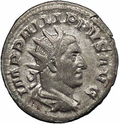 Philip I the Arab 244AD Rare Silver Ancient Roman Coin Four standards  i48203