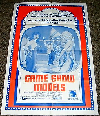 GAME SHOW MODELS '70's ORIG MOVIE POSTER! SEXY BAD GIRLS GRINDHOUSE EXPLOITATION