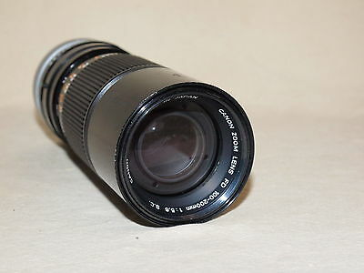 CANON FD 100-200mm 1:5.6 ZOOM LENS EXCELLENT CONDITION 3906