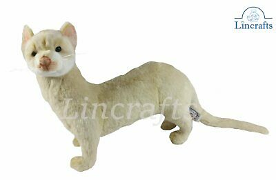 Cream Ferret Plush Soft Toy Hansa from Lincrafts. 4555