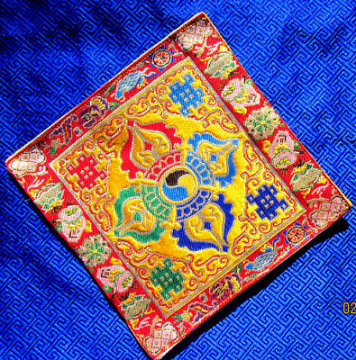 Primary Colors Double Dorje Silk Brocade Altar Cloth Tibetan Buddhist Nepal New