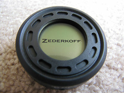 Zederkoff Digital Round Hygrometer/Thermometer For Cigar Humidors - Black - New