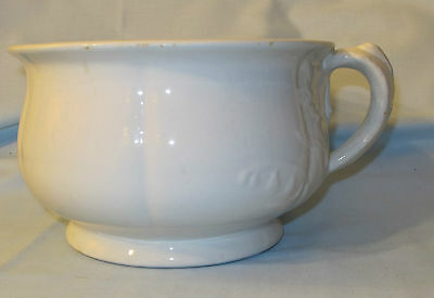 ANTIQUE ROYAL STONE CHINA CHAMBER POT by BAKER & CO. ENGLAND