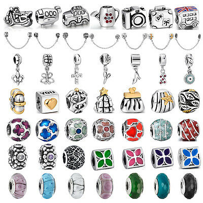 New available 925 sterling silver charms bead For PAN bracelet bangle chain UK