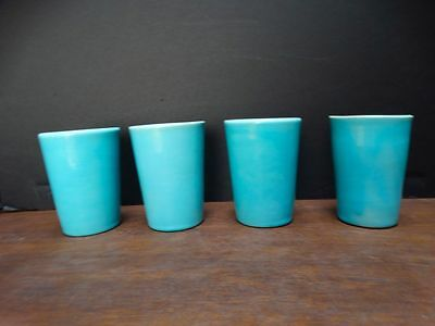 Catalina Island Turquoise white clay Tumblers set of 4