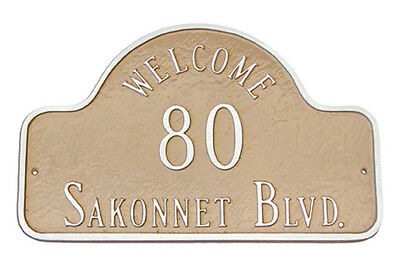 Welcome Arch Address Plaque Lawn House Sign Numbers Wall Custom Personalized