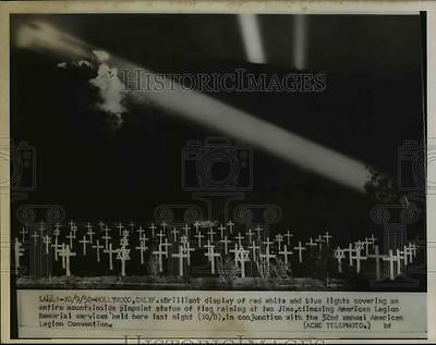 1950 Press Photo American Legion Memorial services in Hollywood