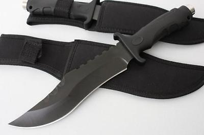 SR Large Survival Bowie Collect Hunting Knife Outdoor Jungle Camping Fishing