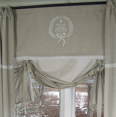 juliana cappuccino 100 120 140 160 scheiben rollo gardine shabby chic curtain. Black Bedroom Furniture Sets. Home Design Ideas