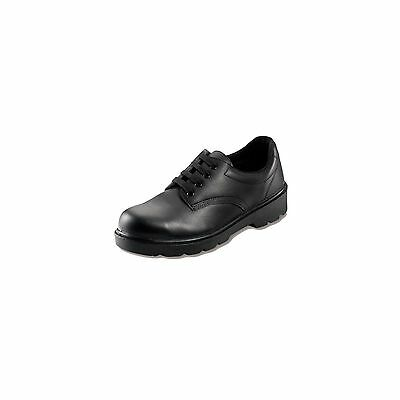 1 X Contractor Black Safety Shoe Size 8 Workwear Protects Garage Warehouse Safe