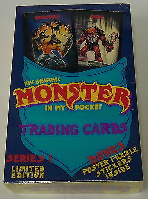 1991 THE ORIGINAL MONSTER IN MY POCKET Trading Cards Box ~ Sealed ~ 36 Packs