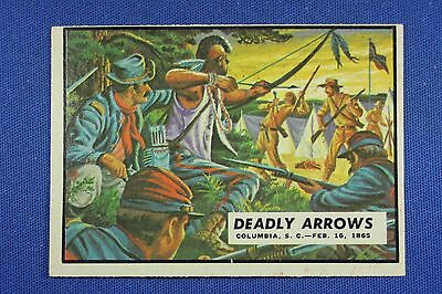 1962 Topps Civil War News - #84 Deadly Arrows - Excellent++++ Condition