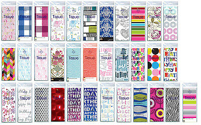 Printed Patterned Tissue Wrapping Paper luxury 4 sheets - celebrations occasions