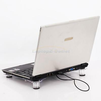 New USB Cooler Cooling Pad Stand LED Light Fans Radiator for Laptop PC Notebook
