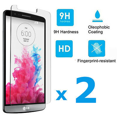 2-PACK Premium 0.26mm HD Tempered Glass Film Screen Protector Guard For LG G3
