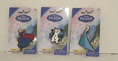 DISNEY FROZEN FLOPPETS WEARABLE COLLECTABLES SET OF 3 OLAF, ANNA AND ELSA NEW