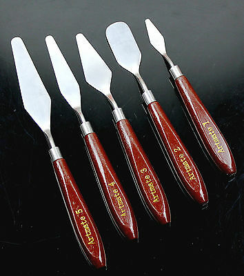5 Stainless Steel Painting Knife Set Pallet Knife Artist's Spatula (5 PC S)