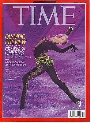 TIME 10 FEB 2014 MAG OLYMPIC PREVIEW FEARS AND CHEERS