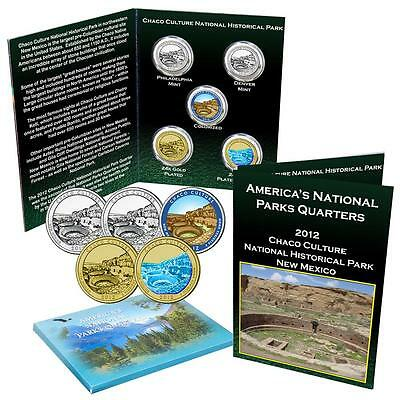 2012 Chaco Culture National Park Quarter Collection Uncirculated and Enhanced