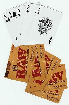 RAW Cigarette Rolling Papers PLAYING CARDS - Classic Organic Hemp Smoker artwork