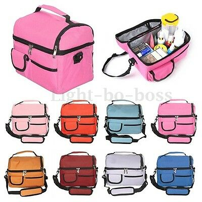 Portable Picnic Lunch Box Thermal Insulated Cooler Bag  Ice Wine Bag Travel
