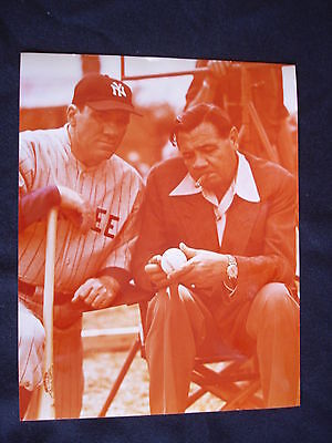 VINTAGE BABE RUTH YANKEES 8 X 10 Glossy Photo ONE OF A KIND!!!!