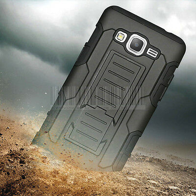 Rugged Armor Hybrid Case Cover Holster For Samsung Galaxy Grand Prime G530 G5308