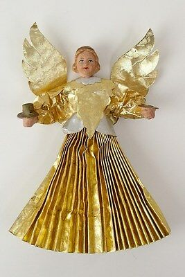 VINTAGE TREE TOPPER ANGEL WITH COMPOSITION HEAD - GERMAN ANTIQUE 1920´s