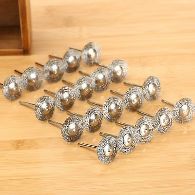 25mm Steel Wire Wheel Brushes Cup Rust Rotary Tools For Grinder Accessories x 15