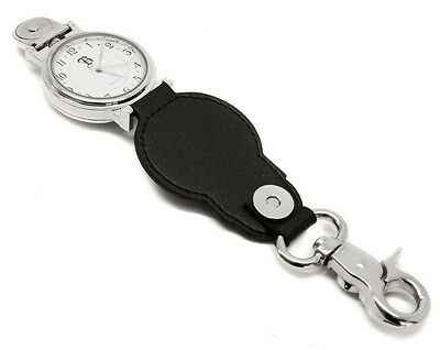 Personalised Chrome Clip On Belt Loop Pocket Watch, Engraved with Gift Box
