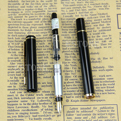Student Baoer 801 Stainless Steel Metal Medium Nib Fountain Pen Office Writing