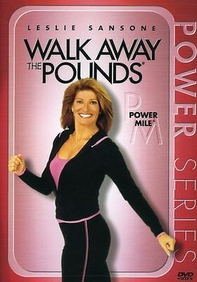 WALK AWAY THE POUNDS POWER MILE (DVD) workout Leslie Sansone express walk NEW