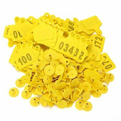 1-100 Number Plastic Large Livestock Ear Tag For Cow Cattle