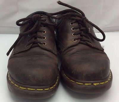 Dr Martens The Original Air Wair England AW04 Brown Leather Oxford Size 7 SM0921