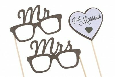 Just Married Wedding Day Mr & Mrs Photo Props