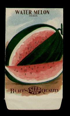Antique 1915 Burt's Water Melon Seed Packet ~L@@k~