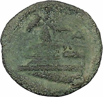 Arados in Phoenicia 300BC Ancient Greek Coin Ship Galley Tyche Fortuna i48435