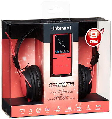 Intenso MP3 Player Video Scooter 8GB 1,8 Zoll Display ON-EAR Headphone pink