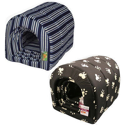 Animal House Cat Dog Pet Bed Warm Cosy Comfy Soft Cuddly Washable Basket Home